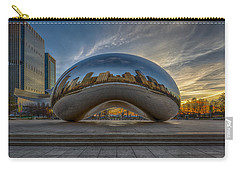 Carry-all Pouch featuring the photograph Sunrise Cloud Gate by Sebastian Musial