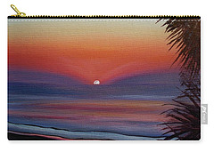 Carry-all Pouch featuring the painting Sunrise Glow by Donna Tuten