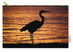 Carry-all Pouch featuring the photograph Sunrise Heron by Leticia Latocki