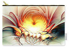 Carry-all Pouch featuring the digital art Sunrise In Neverland by Anastasiya Malakhova