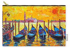 Sunrise In Venice Italy Gondolas And San Giorgio Maggiore Carry-all Pouch by Ana Maria Edulescu