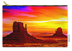 Sunrise Monument Valley Mittens Carry-all Pouch