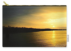 Carry-all Pouch featuring the photograph Sunrise On Ole Man River by Michael Hoard