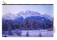 Sunrise On Snowy Mountain Carry-all Pouch