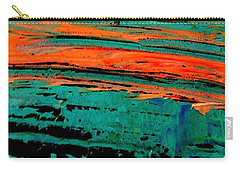 Carry-all Pouch featuring the painting Sunrise On The Water by Jacqueline McReynolds