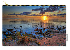 Sunrise Over Lake Michigan Carry-all Pouch by Scott Norris