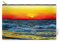 Carry-all Pouch featuring the painting Sunrise Over Paradise by Shana Rowe Jackson