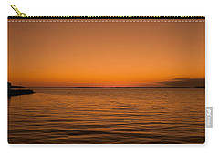Carry-all Pouch featuring the photograph Sunrise Over The Lake Of Two Mountains - Qc by Juergen Weiss