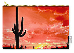 Sunrise Saguaro National Park Carry-all Pouch