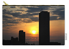 Sunrise Silhouette Buffalo Ny V2 Carry-all Pouch by Michael Frank Jr