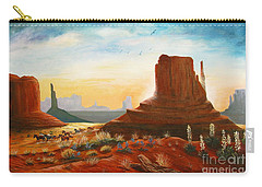 Sunrise Stampede Carry-all Pouch by Marilyn Smith