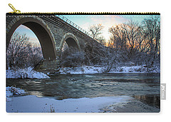 Sunrise Under The Bridge Carry-all Pouch