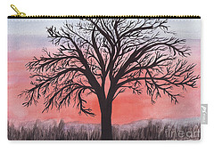 November Sunrise Walnut Tree Watercolor Carry-all Pouch
