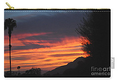 Sunrise With Lone Sentinel Over Desert Carry-all Pouch by Jay Milo
