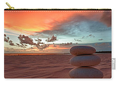 Carry-all Pouch featuring the photograph Sunrise Zen by Sebastian Musial