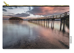 Sunset - Mayne Island Carry-all Pouch by Jacqui Boonstra