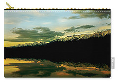 Sunset 1 Rainy Lake Carry-all Pouch by Janie Johnson