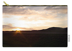 Carry-all Pouch featuring the photograph Sunset Across I 90 by Cathy Anderson