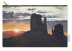 Sunset Among The Buttes Carry-all Pouch