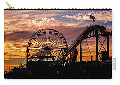 Sunset Amusement Park Farris Wheel On The Pier Fine Art Photography Print Carry-all Pouch
