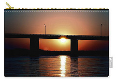Carry-all Pouch featuring the photograph Sunset And Bridge by Debra Forand