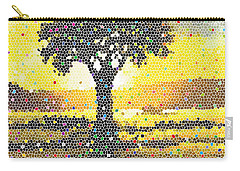 Carry-all Pouch featuring the painting Sunset Beauty by Anthony Mwangi