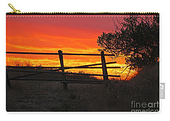 Carry-all Pouch featuring the photograph Sunset At Bear Butte by Mary Carol Story