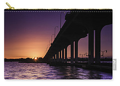 Sunset At Jensen Beach Carry-all Pouch by Fran Gallogly