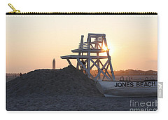 Carry-all Pouch featuring the photograph Sunset At Jones Beach by John Telfer