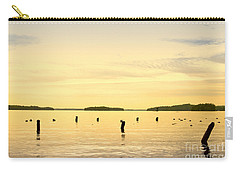 Carry-all Pouch featuring the photograph Sunset At Lake Muskoka by Les Palenik