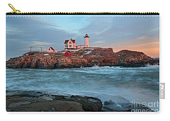 Sunset At Nubble Lighthouse Carry-all Pouch