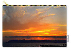 Sunset At Point Loma From Coronado California Carry-all Pouch