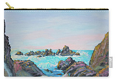 Carry-all Pouch featuring the painting Sunset At Reef Cove by Asha Carolyn Young