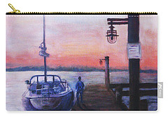 Carry-all Pouch featuring the painting Sunset At Rocky Point by Sher Nasser