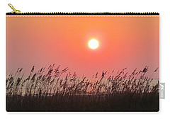 Carry-all Pouch featuring the photograph Sunset At The Beach by Cynthia Guinn