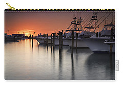 Sunset At The Pelican Yacht Club Carry-all Pouch by Fran Gallogly
