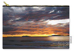Carry-all Pouch featuring the photograph Sunset At The Shores by Janice Westerberg