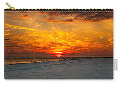 Carry-all Pouch featuring the photograph Sunset Beach New York by Chris Lord