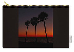 Sunset Beach Silhouette Carry-all Pouch