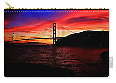Carry-all Pouch featuring the photograph Sunset By The Bay by Dave Files