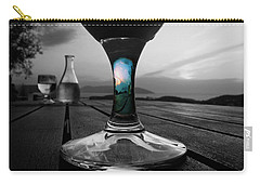 Carry-all Pouch featuring the photograph Sunset Cafe by Micki Findlay