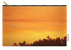 Carry-all Pouch featuring the photograph Sunset Canoe by Athala Carole Bruckner