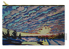 Sunset Deformation Carry-all Pouch by Phil Chadwick