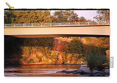 Carry-all Pouch featuring the photograph Sunset Dip by Melanie Lankford Photography