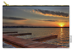 Sunset Docks On Lake Oconee Carry-all Pouch by Reid Callaway