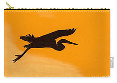 Carry-all Pouch featuring the drawing Sunset Flight by D Hackett
