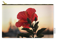 Carry-all Pouch featuring the photograph Sunset Flower by Cynthia Guinn