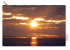 Sunset From Peace River Bridge Carry-all Pouch by Barbie Corbett-Newmin