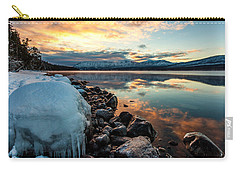 Sunset Frozen Carry-all Pouch by Aaron Aldrich
