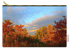 Carry-all Pouch featuring the photograph Sunset Glow by Kathryn Meyer